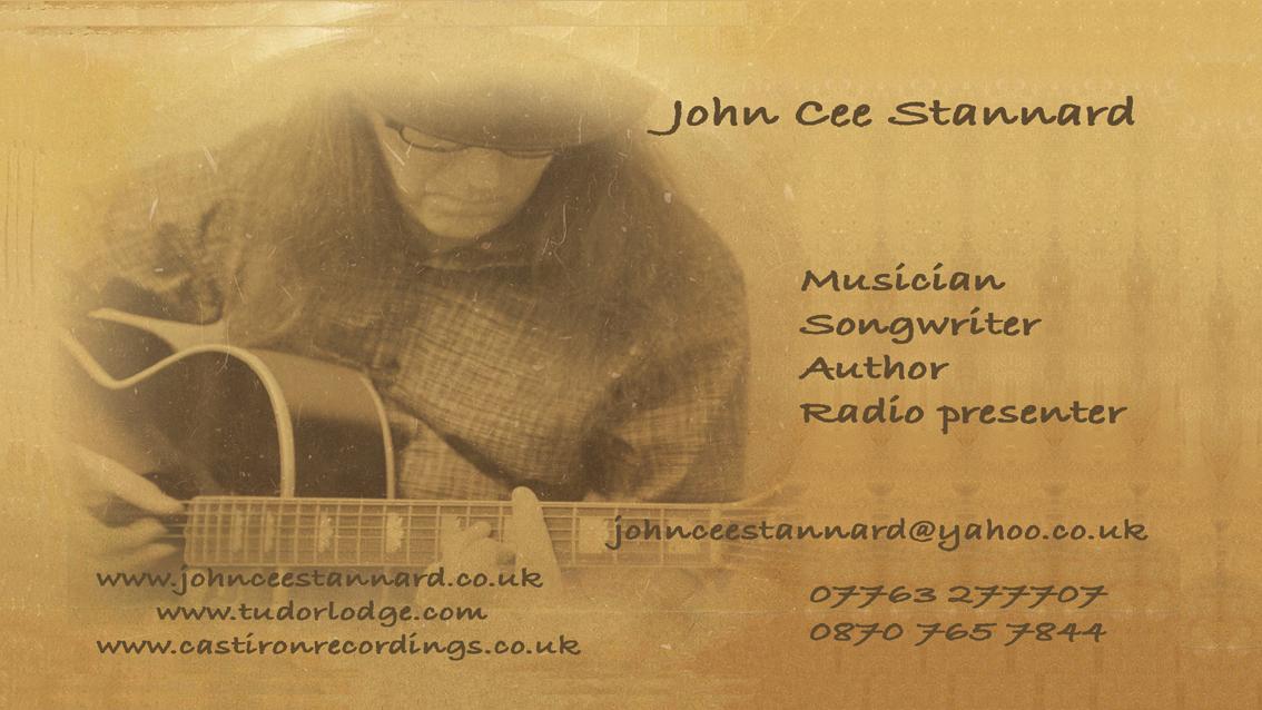 """""""John Cee Stannard"""" business card"""